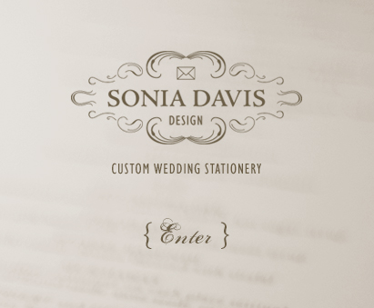 Sonia Davis Design Custom Wedding Stationery